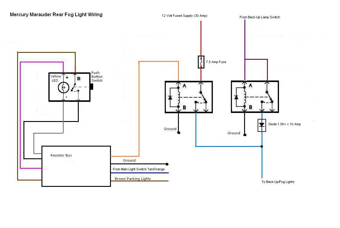 Mercury Fog Lights Wiring Diagram Trusted Diagrams 12 Volt Relay Lamp Index Of Lincoln 2003mercurymarauder Rh Superstitiongold Com Light Without 97 Jeep
