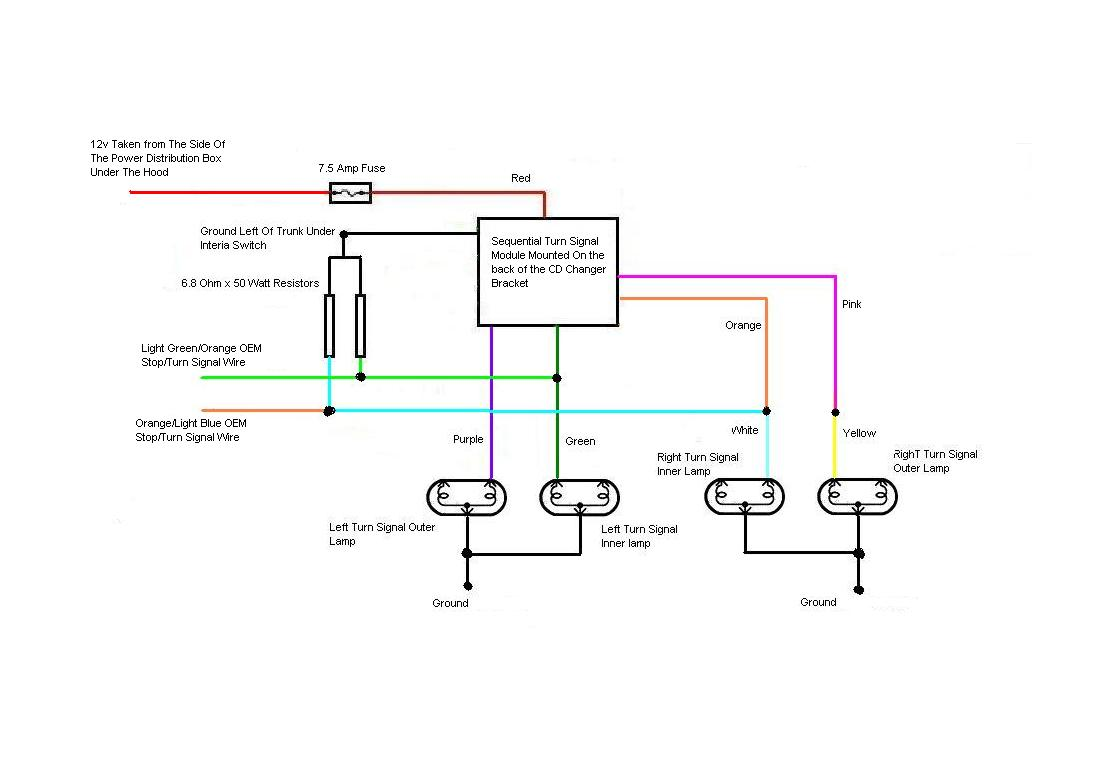 Sequentials Turnsignal Wiring Diagram And Oil Pressure Switch Turn Signal Below Is The Its A Little Bit Simpler Than Using Relays To Isolate Lcm As I Just Used Resistors Simulate Missing Bulbs
