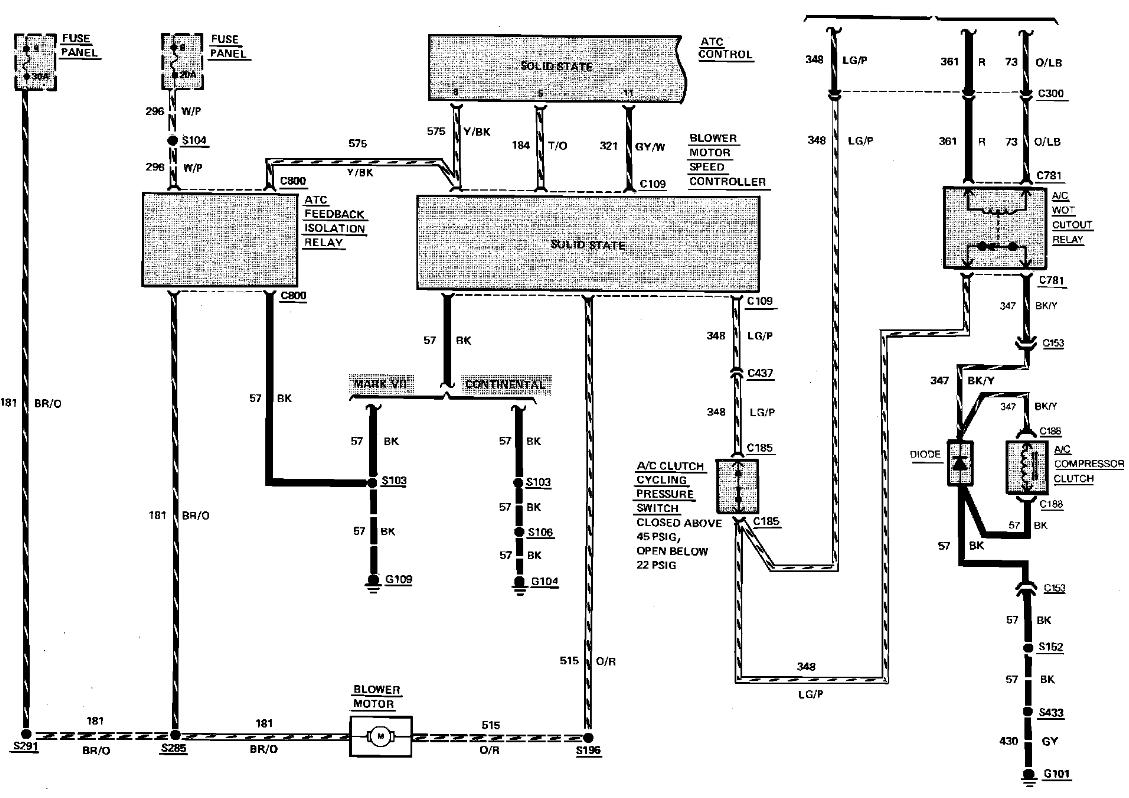 1990 lincoln mark vii wiring diagram