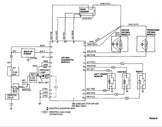 Air Bag Schematic 91' town car air bag light flashing! help! lincolns online Classic Car Wiring Harness at crackthecode.co