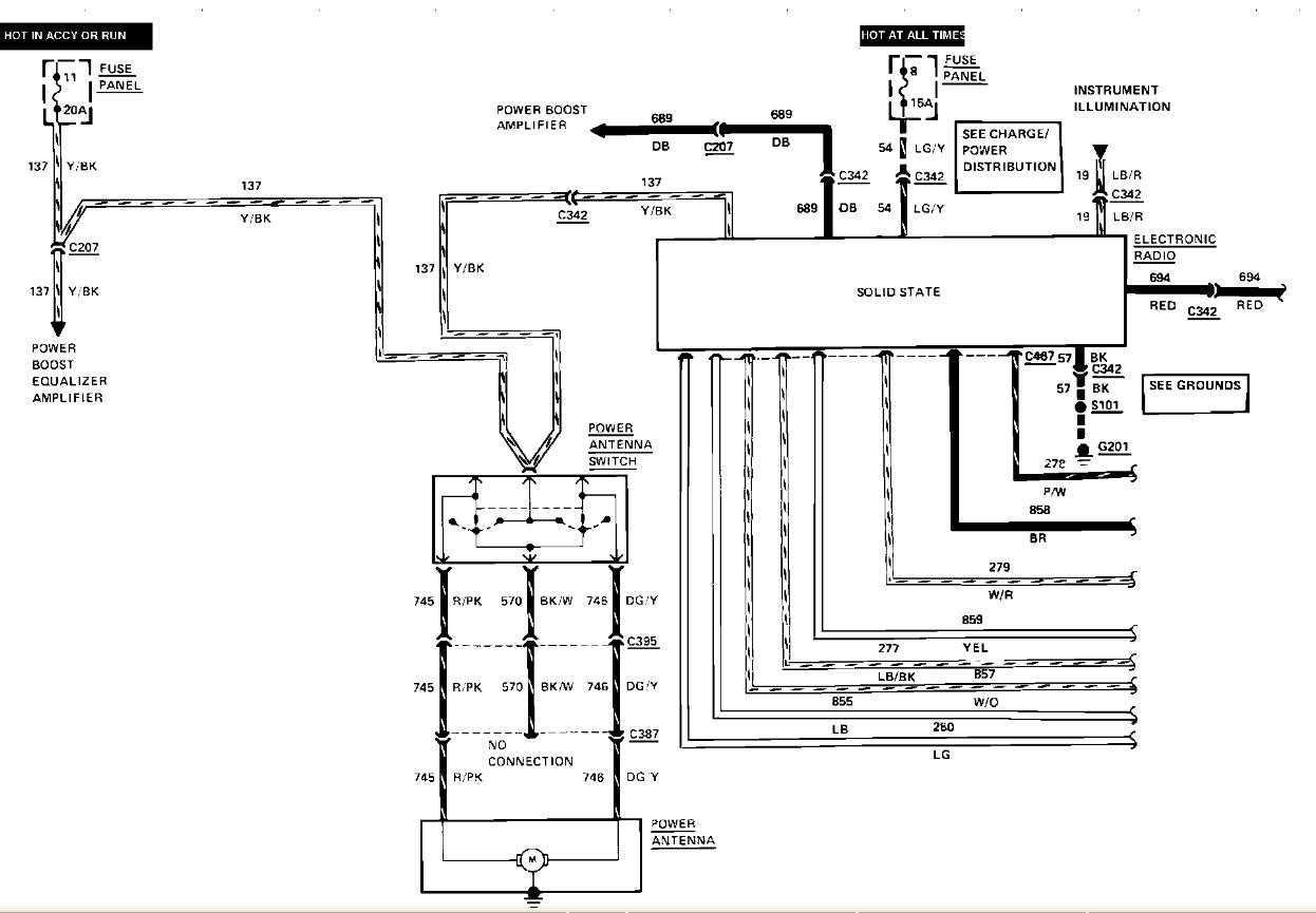 88 TC Radio Wiring radio wiring diagram needed lincolns online message forum 1997 lincoln town car stereo wiring harness at gsmx.co