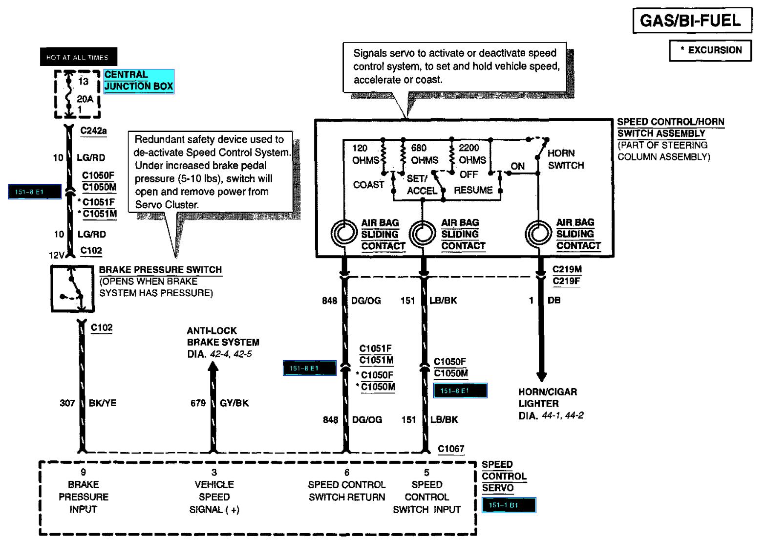 Excursion Rear Control Wiring - Wiring Circuit •