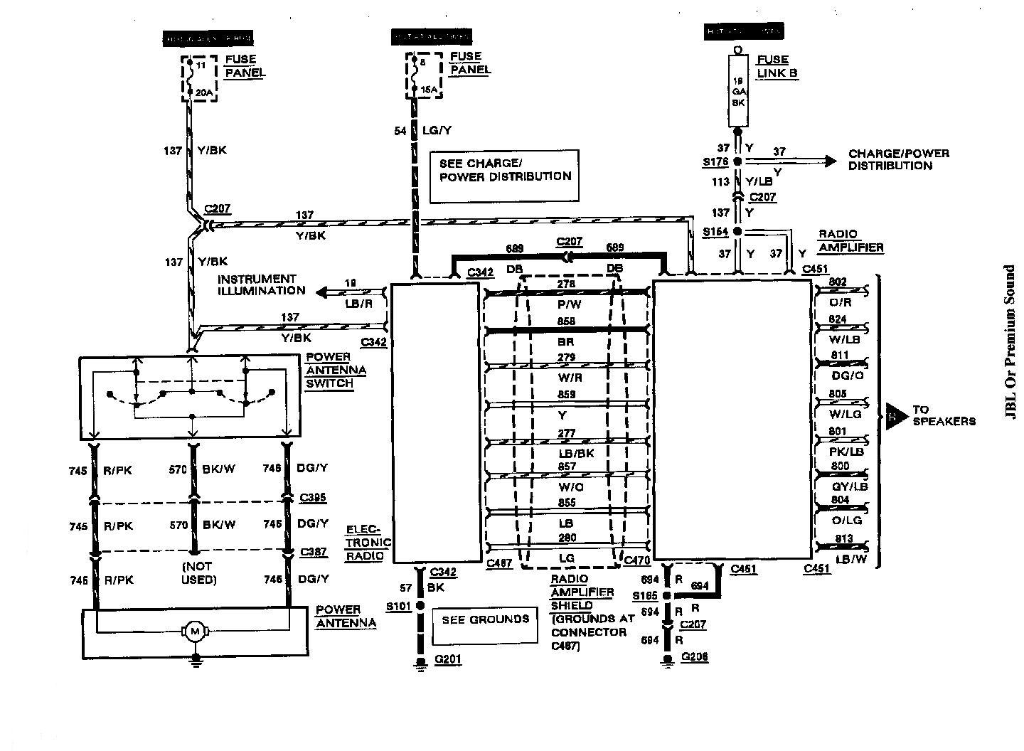 radio wiring diagram 2000 lincoln continental  lincoln